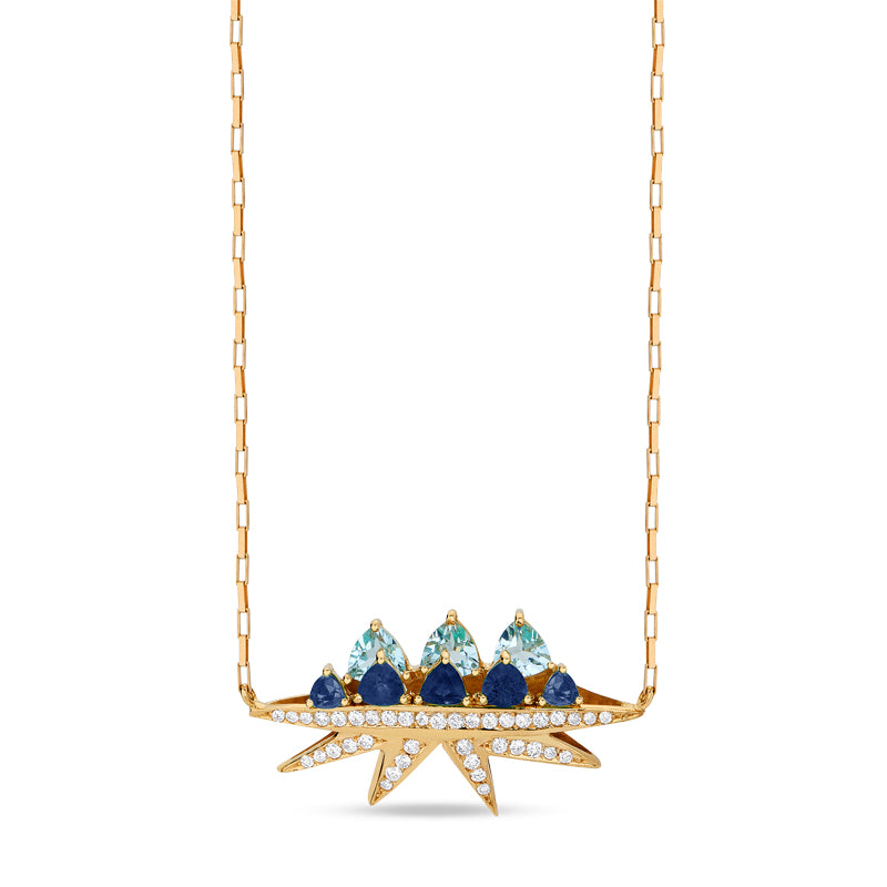 Blue Sapphire Electra Necklace