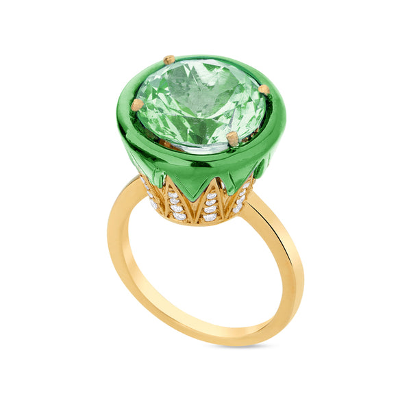 Prasiolite Colors Ring