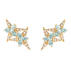 Galactic Star Aquamarine Earrings