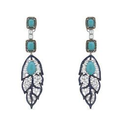 Birds Of A Feather Turquoise Earrings