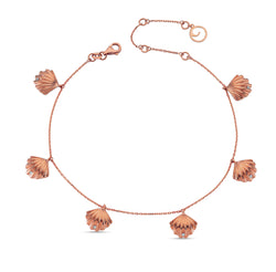 Aqua Light Oyster Anklet