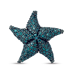 Aqua Light Starfish Single Earring