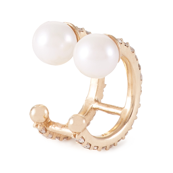 Paige Novick Double Akoya Pearl Single Stud