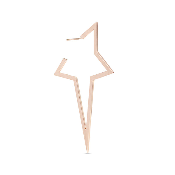 Diane Kordas Two Tone Large Star Earring