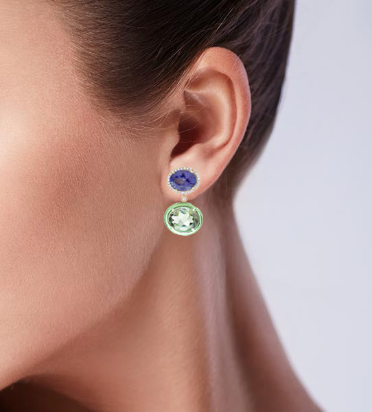 Class Iolite & Prasiolite Earrings