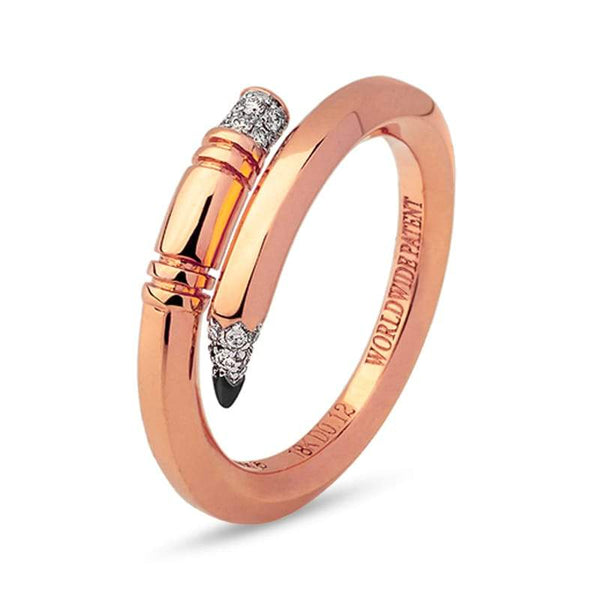 Tzuri: Rose Gold Mini Pencil Ring