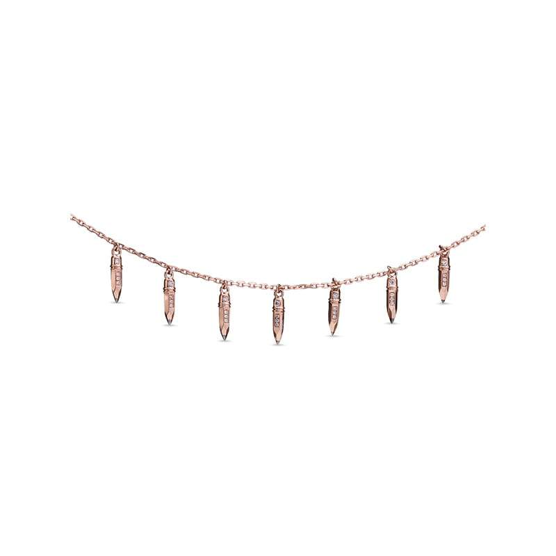 Tzuri: Pencil Fringe Necklace