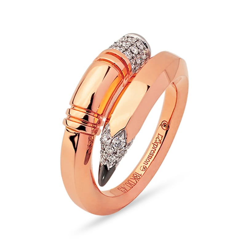 Rose Gold Pencil Ring Medium Gauge