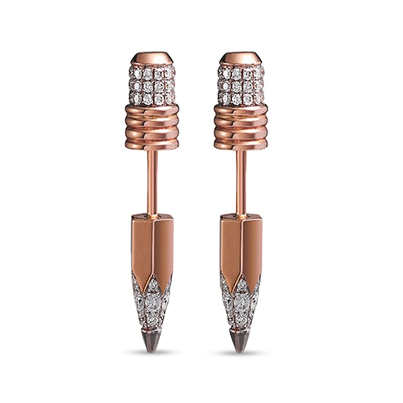 Pencil Stud Earrings