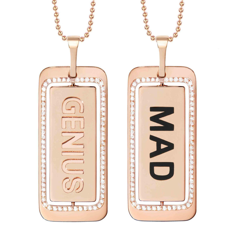 Mad Genius ID Tag Necklace
