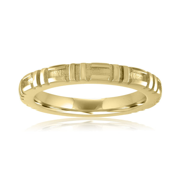 City Stacking Band, 18K Yellow Gold