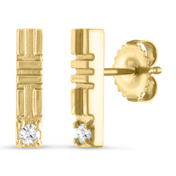 City Stick Stud, 18K Yellow Gold
