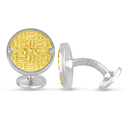 Two Tone Manhole Cufflinks