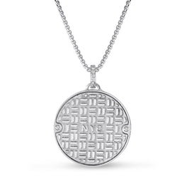 Sterling Manhole Statement Pendant