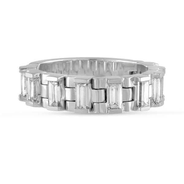 The Freelancer, #BeFlexible Baguette Hinged Band in Platinum