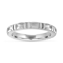 City Stacking Band, 14K White Gold