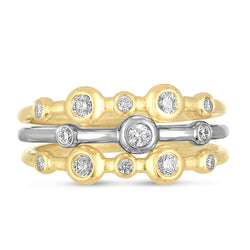 Mariel Stacking Ring Trio in 18K & Diamonds
