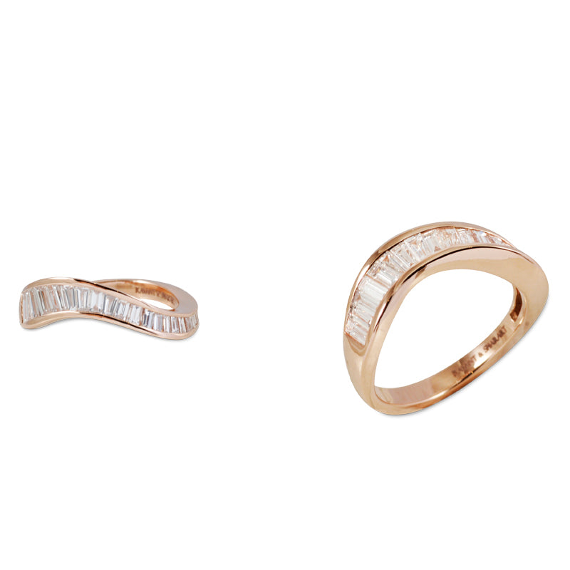 Talay Wave Channel Stacking Ring