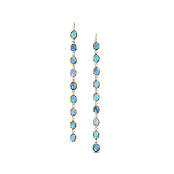 Katherine Jetter Opal and Diamond Earring Dusters
