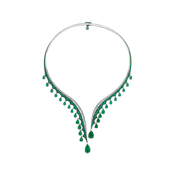 Legends Of Africa Dido Necklace In Diamonds And Emeralds