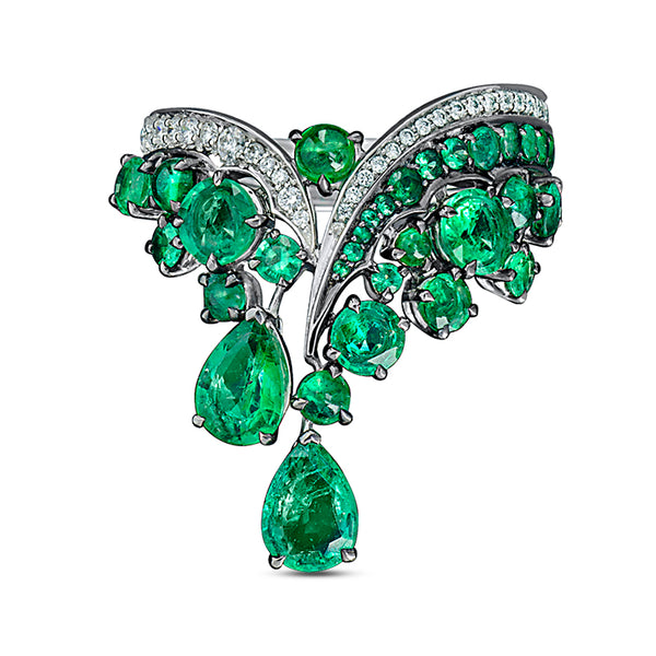 Legends Of Africa Dido Ring In Diamonds And Emeralds