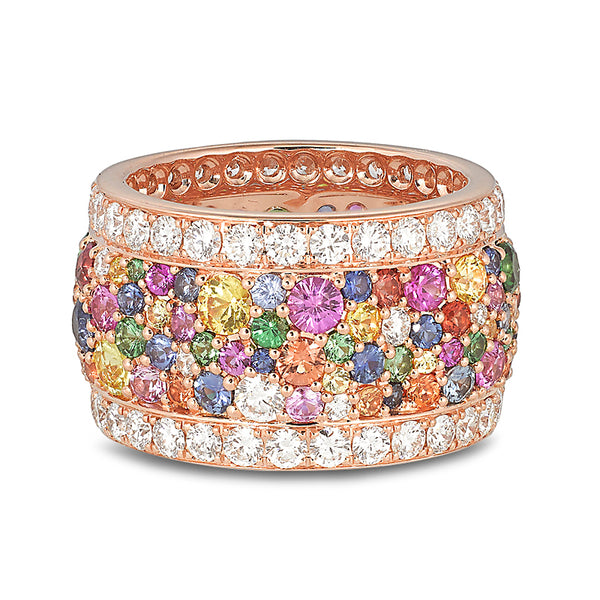 Legends Of Africa Ring In Multicolored Sapphires