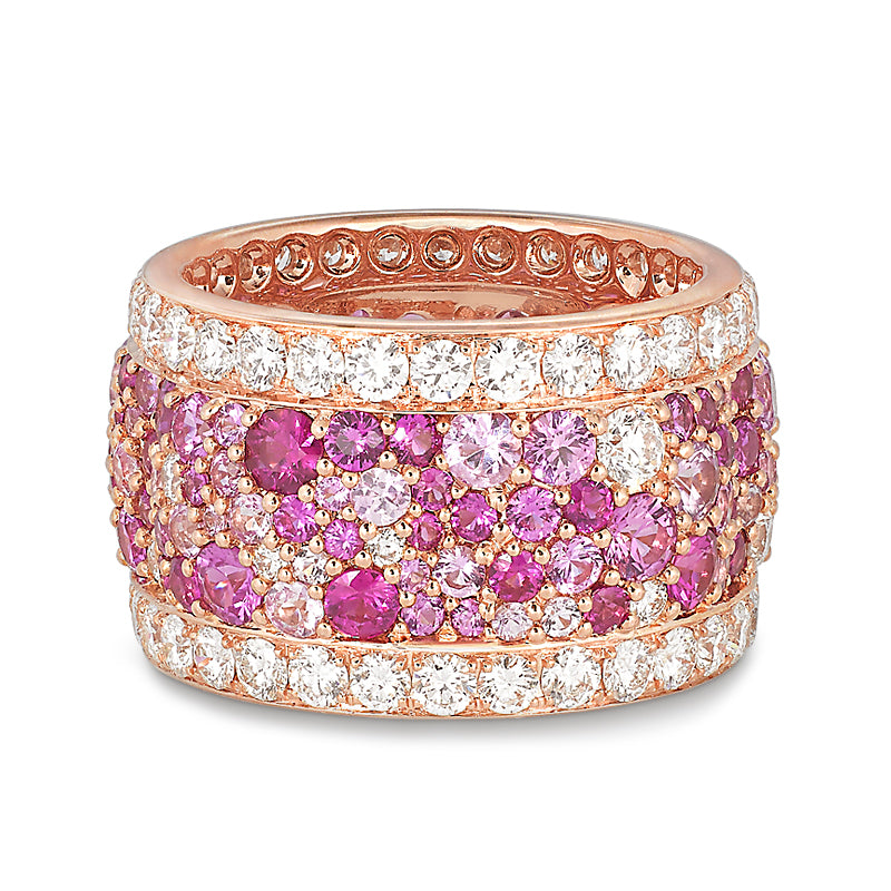 Legends Of Africa Ring In Pink Sapphires