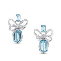 Lyla'S Bow Aquamarine Earrings