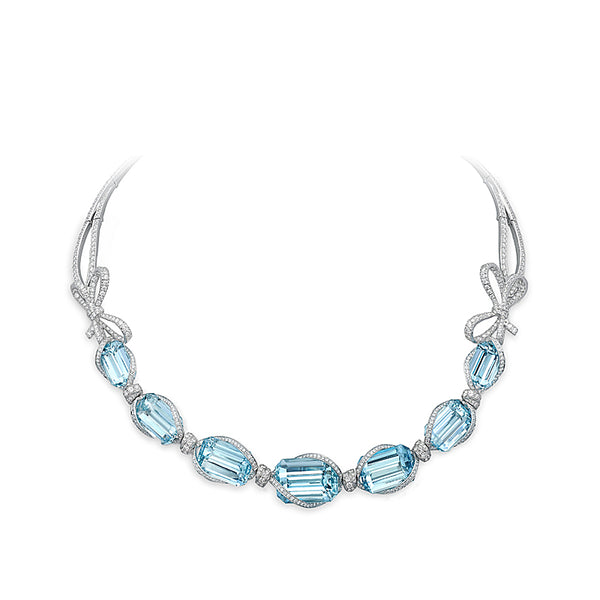 Lyla'S Bow Aquamarine Necklace