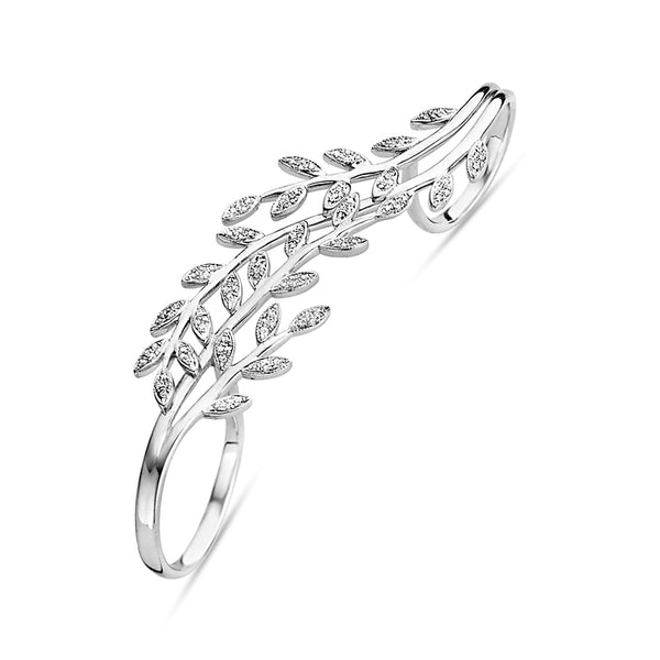 Triple Leaves Ring