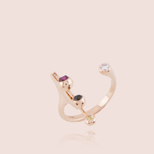 Dancing Diamond Open Ring