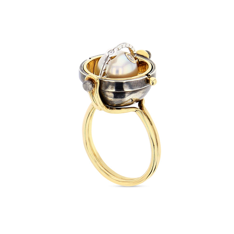 Akoya Pearl Sphere Ring