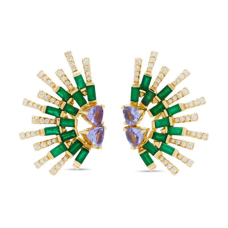 Emerald  Sunshine Earring