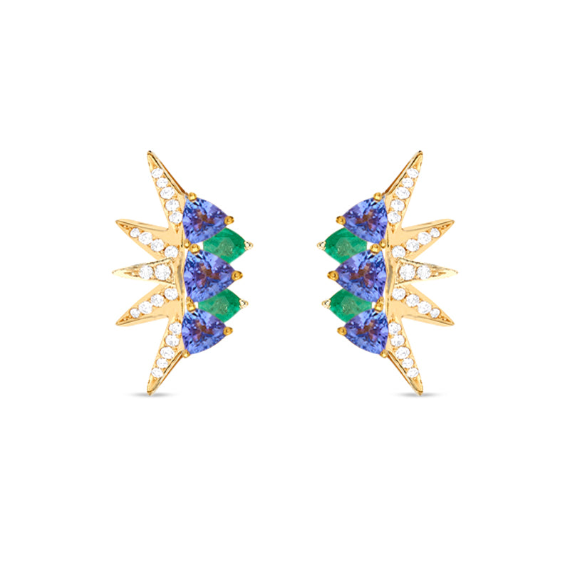 Electra Mini Emerald Earrings