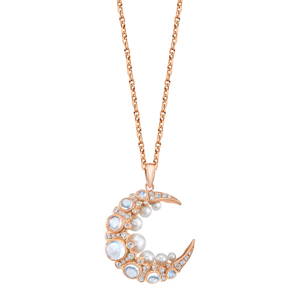 Colette Glow Necklace with Grey Diamonds