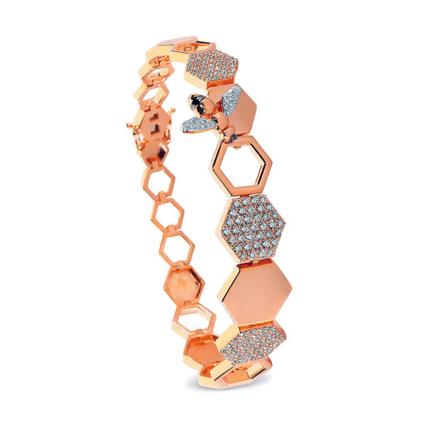 Queen Bee Honeycomb Bracelet