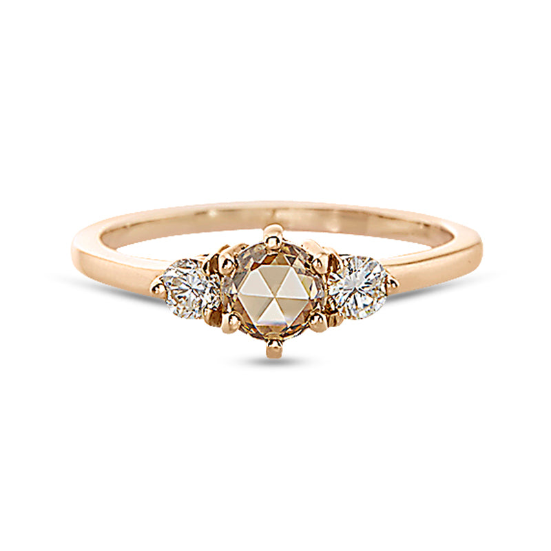 Vale Champagne Rose Cut Diamond Tidals Ring