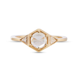 Vale White Rose Cut Diamond Vapor Ring