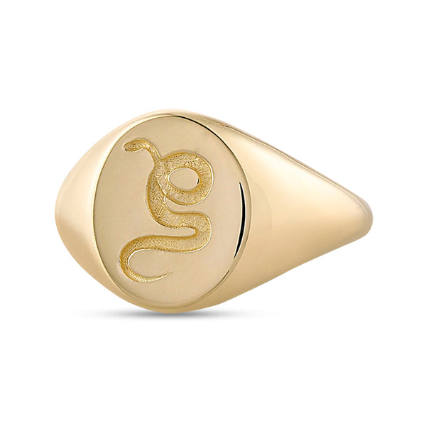 Vale Serpent Signet Ring