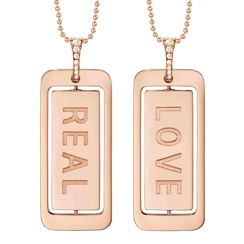 Real Love ID Tag Necklace