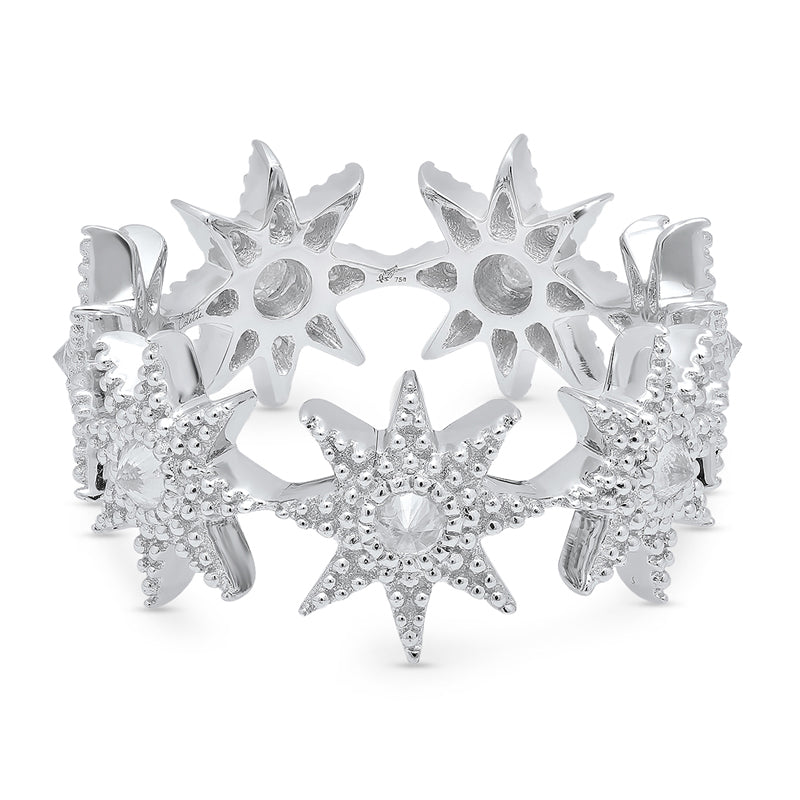 Colette White Gold Stars Infinity Ring