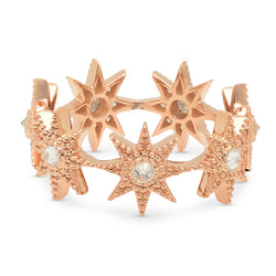 Colette Pink Gold Stars Infinity Ring