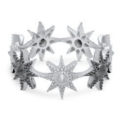 Colette White and Black Gold Stars Infinity Inverted Ring