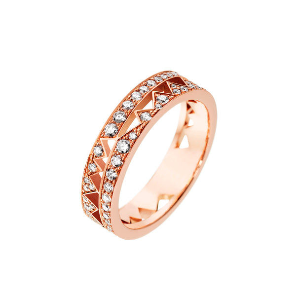 Rose Gold Full Diamond Capture Me Band Ring