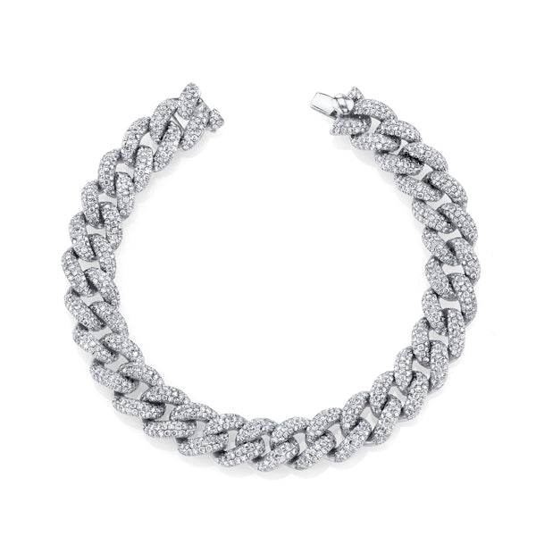 White Gold Essential Link Bracelet