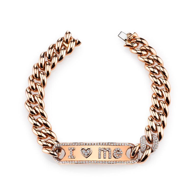 Rose Gold Essential Personalized Id Bracelet