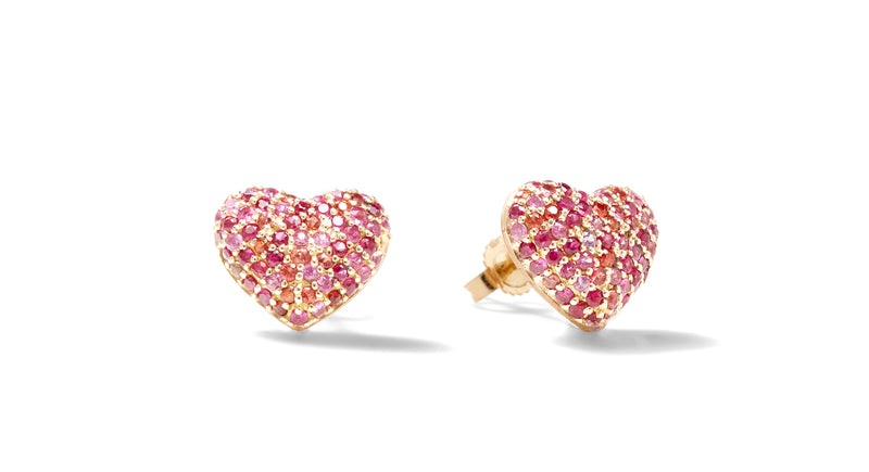 Puffy Heart Stud Earrings