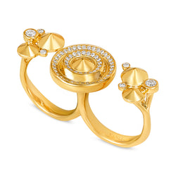 Sahara Twilight Double Finger Ring