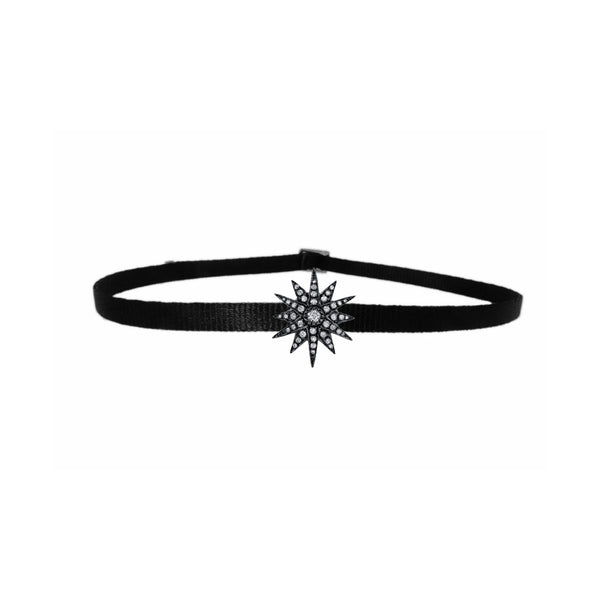 Black Gold Single Starbust Choker