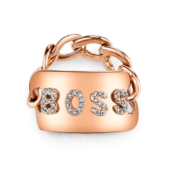 Rose Gold Essential Personalized Id Ring